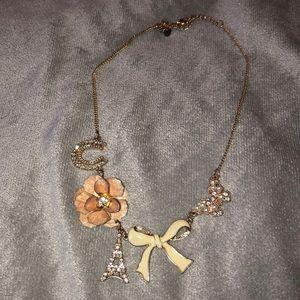 Gold girls Paris statement necklace
